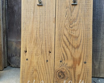 Wood Art Display Sign