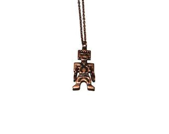 Copper Aztec God Necklace, Copper Necklace, Copper Jewelry