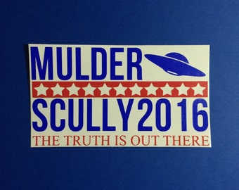 vote mulder and scully 2016 xfiles aliens politics *please read entire description*