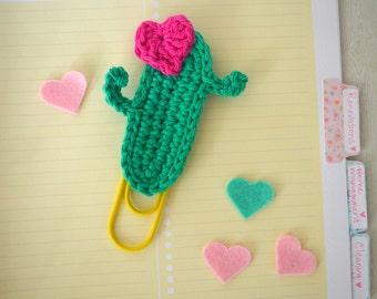 Cactus Planner Clip / Giant Paper Clip / Jumbo Planner Clip / Journaling Clip
