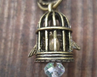 """Bird in a Cage Necklace in Honor of Maya Angelou's """"I Know Why the Caged Bird Sings"""""""