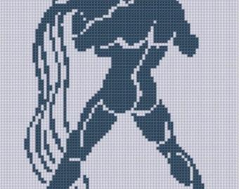 Zodiac Aquarius Cross Stitch Pattern