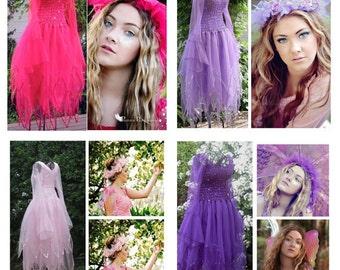 Adult Fairy Halloween Dress ~ Gothic ~ Ren Faire ~ Party Costume ~  PLUS SIZE ~ Theatre ~ Fantasy ~ Masquerade ~Bridal ~ Masquerade Parade