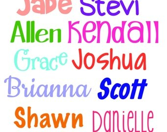 Personalized Name Decal | Yeti Cup Decal | Laptop Decal | Mac Book Decal