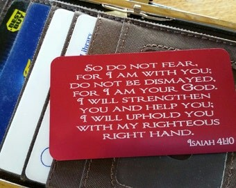 Faith in My Pocket - Do Not Fear Isaiah Verse Wallet or Pocket Card