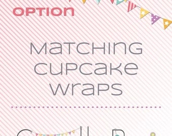 Matching printable cupcake wrappers - matching decoration
