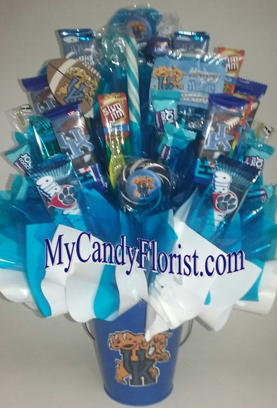 College candy bouquet centerpiece go big blue pba by