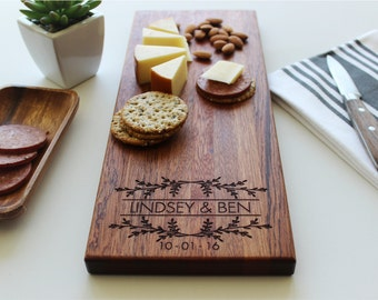 Cheese Board, Personalized Cutting Board, Custom Name, Wedding Gift, Valentine, Anniversary, Personalized Womens, Gift For Her, Husband Gift