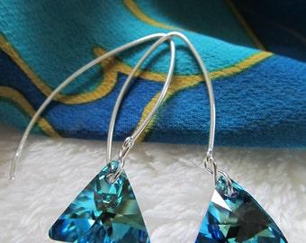 D. Kirkup Designs Swarovski Crystal and Sterling Silver Earrings