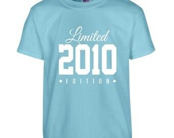 2010 Limited Edition Birthday Tshirt, Kids 6th Birthday Tshirt, Children's Birthday Tshirt, Gift for Child Birthday TH-2010Ts