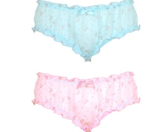 Cotton Candy Dream Pantie- Baby Blue, Baby Pink, Floral