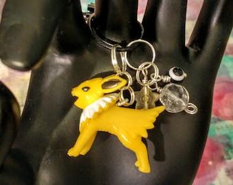 pokemon inspired jolteon charm cell phone necklace bracelet