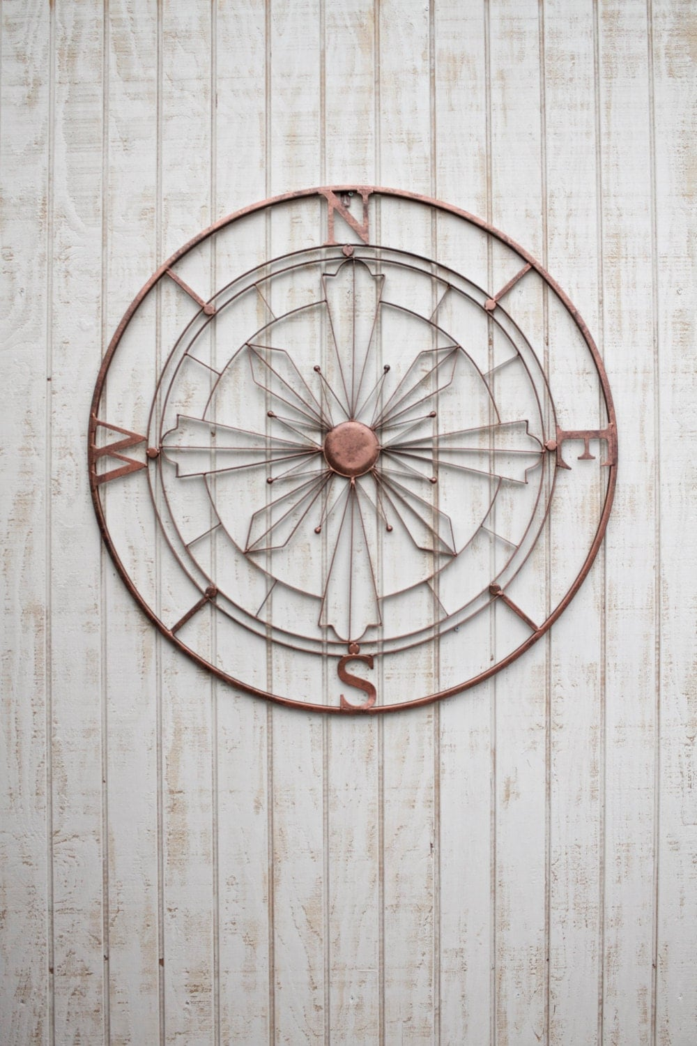 Nautical Compass Wall Art Rustic Wall Decor Metal Wall Art