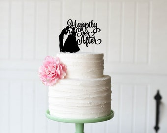 Cinderella Cake Topper - Wedding Cake Topper - Happily Ever After Cake Topper - Custom Cake Topper