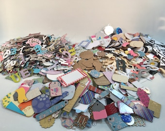 Huge Lot of Scrapbooking Cardmaking Supplies, Chip Board, Paper and Wood, Letters & Embellishments