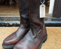 Vintage Red Wing 1101 pecos work boots US 8 motorcycle cowboy Western rockabilly made in USA