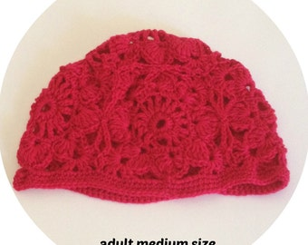 crochet ladies beanie, crochet girl beanie hats, crochet beanie, womens hats, knitted ladies beanie, womens beanie, floral beanie, cloche