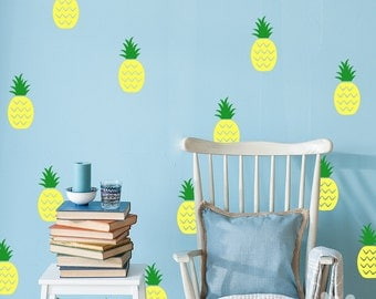 Pineapple Wall Decal  / 2 Color Pineapple sticker / Pineapple Wall Sticker / Kids Room Decal / Home Decor