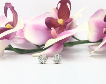 0.51CTW Diamonds Cluster/Flower Earrings in 14K Yellow Gold