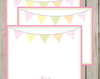 Girl Personalized Digital/Printable Stationary-Pennant Banner
