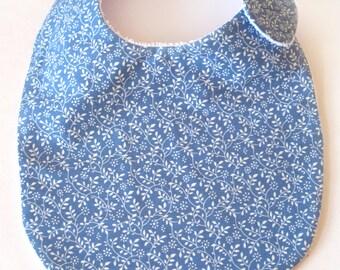 Blue Leaf Baby Bib