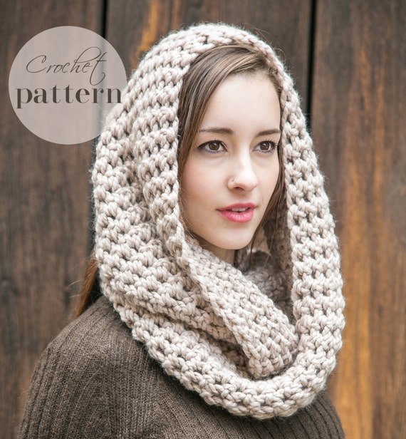 Crocheting Infinity Scarf For Beginners : Infinity Scarf Pattern // PDF Crochet Pattern // Beginner Crochet ...