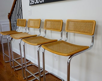 Marcel Breuer CESCA BAR STOOL set of four.
