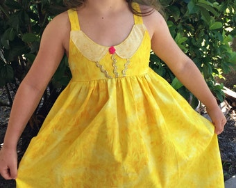 Belle Dress Beauty and The Beast Princess Dress Up Belle Birthday Dress Belle Princess Dress Custom Belle Dress Girls Princess Belle Dress