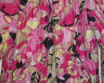 Vintage Carole Little Silk Quilted Lovely Jacket For All You Pink People. Size Large