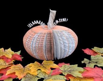 Paper Pumpkin Halloween Decoration Medium Book Art