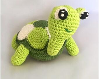 Turtle amigurumi crochet pattern PDF Dutch and Englisch - US terms
