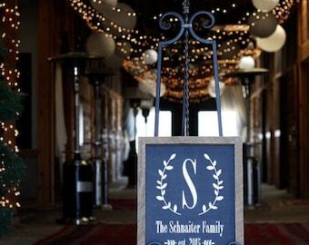 Custom family name / wedding sign