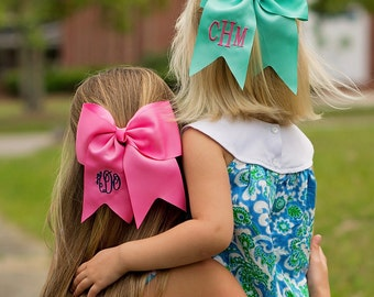 Monogrammed Hot Pink Hairbow
