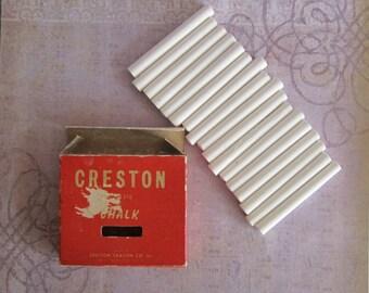 Vintage Creston Chalk No. 4318 Made By Creston Crayon Co Inc New York City USA