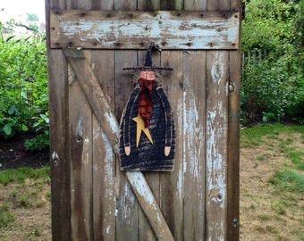 Door greeter, Primitive halloween decor, Primitive witch, Primitive, Country primitive, Primitive Fall Decor, fall decor, witch, OFG Team