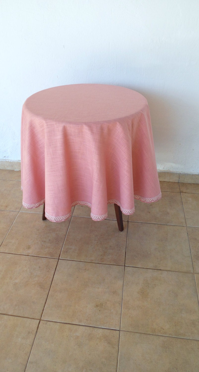 Dusty Rose Round Tablecloth Pale Pink Round Table Cloth Ready