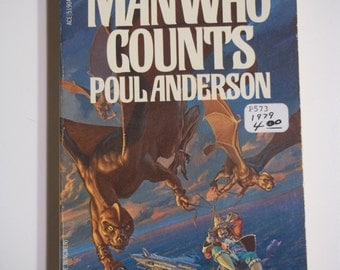 The Man Who Counts by Poul Anderson ACE Books 1979 Vintage Sci-Fi Paperback