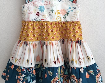 Little Arrows Ruffled Twirl Dress