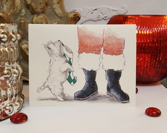 West Highland White Terrier Holiday Card