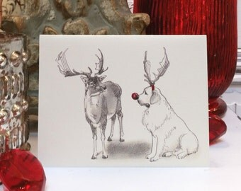 Great Pyrenees Holiday Card