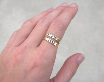 Mothers Ring - Personalized Name Ring - Wrap Ring - Mothers Jewelry - Mothers Day Gift - Kids Name Ring - Initial Ring