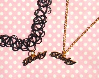 Pretty gold and black baby necklace or choker