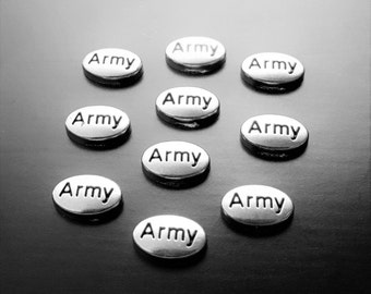 Army Floating Charm for Floating Lockets-1 Pc-Gift Idea for Women