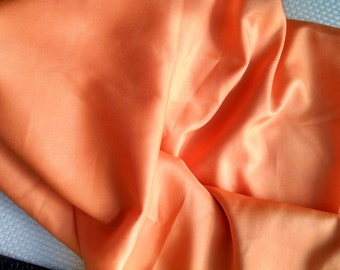 Orange Lining Fabric Polyester 1 yard Sewing Supplies 0172