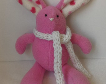 Easter Bunny: Pink Bunny with Scarf