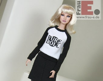 "Fashion Doll Sweater ""Pure Doll"" - white"