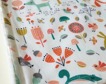 Baby Blanket - Minky Baby Blanket - Fablewood Baby Blanket -Modern Baby Blanket - Woodland Baby Blanket - Nature Baby Blanket -New Baby Gift