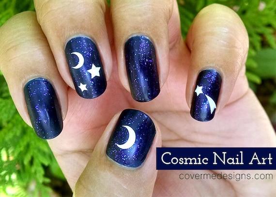Cosmic Vinyl Nail Decals / Vinyl Nail Painting Guides