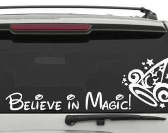 Believe in Magic Car decal // Disney Car decals // Disney // Disney Trips // Family Vacation