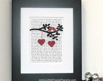 Wedding Song Wedding Gift - Unique Wedding Anniversary Gift - Custom Anniversary Gift - Song Lyrics Wall Art - Wedding Gift Wall Art